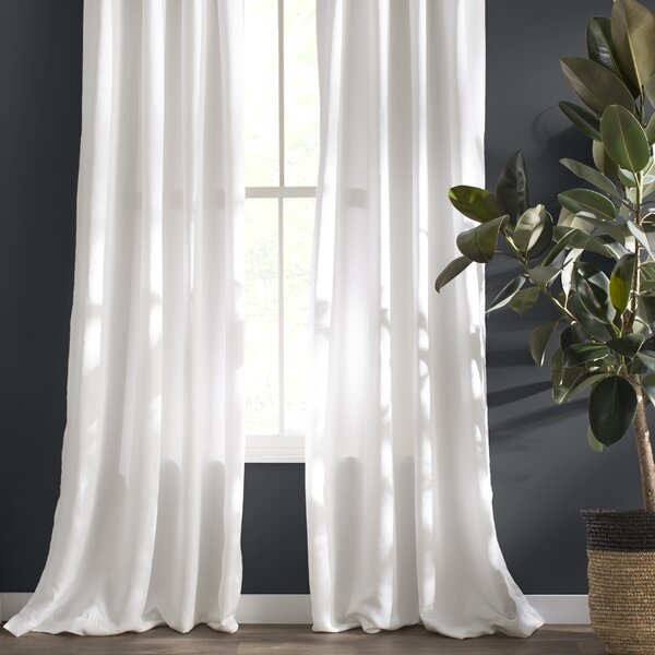 Marnie Solid Light Filtering Grommet Curtain Panels (Set of 2) by Langley Street