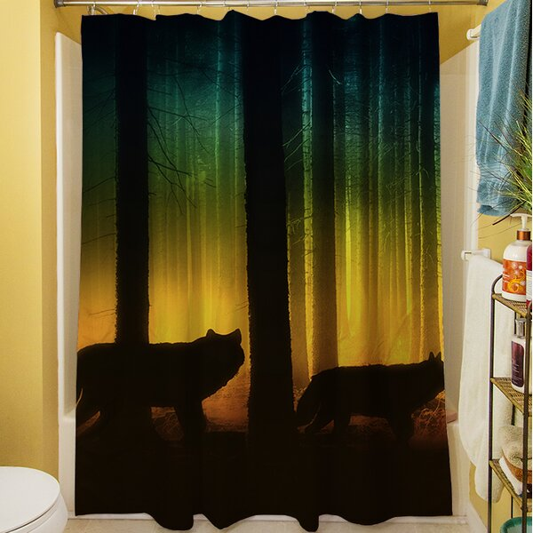 Tracking Wolves Shower Curtain by Manual Woodworkers & Weavers