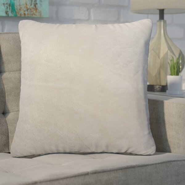 Genova Solid Throw Pillow by Wrought Studio
