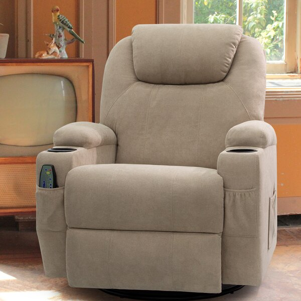 Swivel Rocker Reclining Heated Full Body Massage Chair By Red Barrel Studio