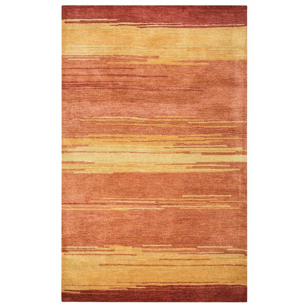 Belem Hand-Tufted Red Area Rug by Meridian Rugmakers