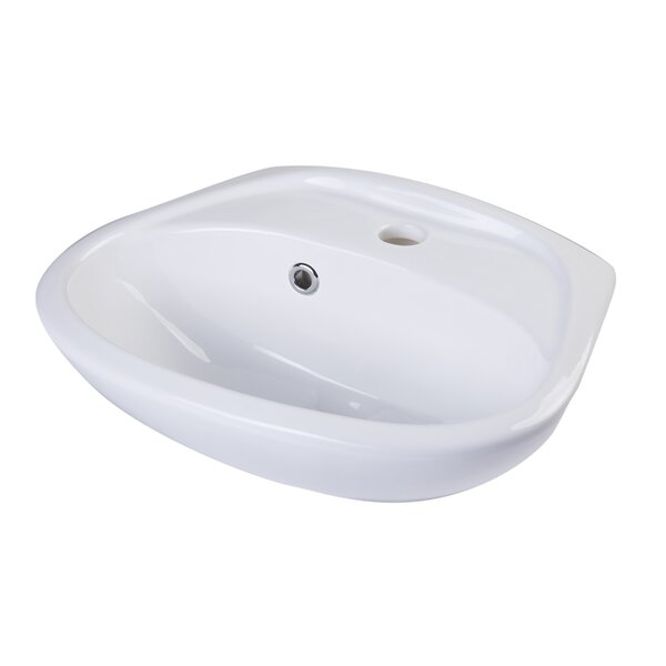 Ceramic 18 Wall Mount Bathroom Sink with Overflow by Alfi Brand