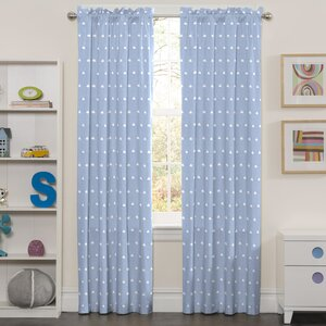Jolene Polka Dots Blackout Thermal Rod Pocket Curtain Panels