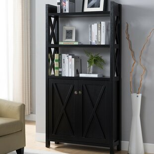 Houlihan X Frame Paneled Etagere Bookcase by Red Barrel Studio Herry Up