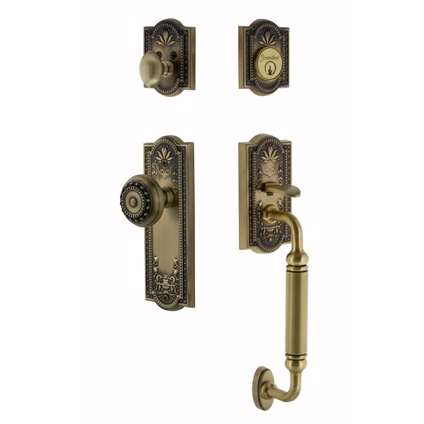 Meadows Single Cylinder Handleset with Interior Knob by Nostalgic Warehouse
