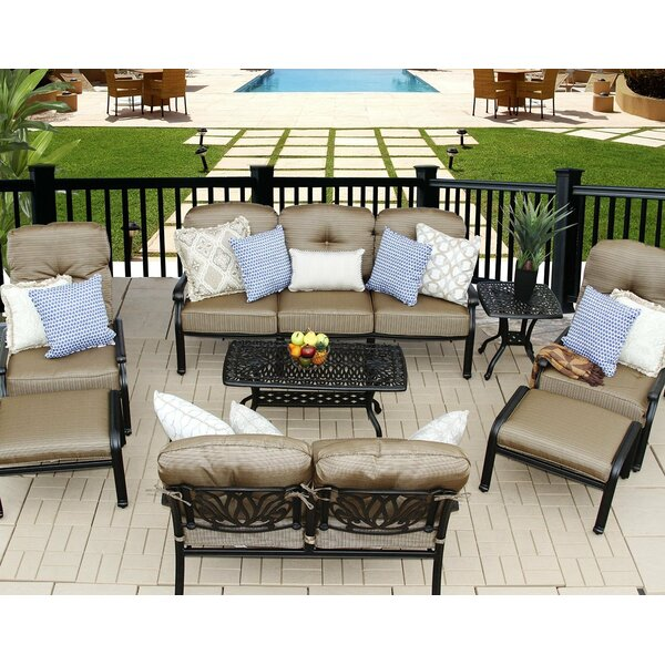 Kristy 8 Piece Sofa Set with Cushions by Darby Home Co