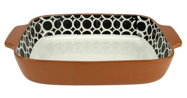 Basic Luxury Circle Rectangular Terracotta Oven Baking Dish by Northlight Seasonal