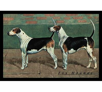 Two Fox Hounds Framed Painting Print Buyenlarge Size 66 H X 44 W X 15 D