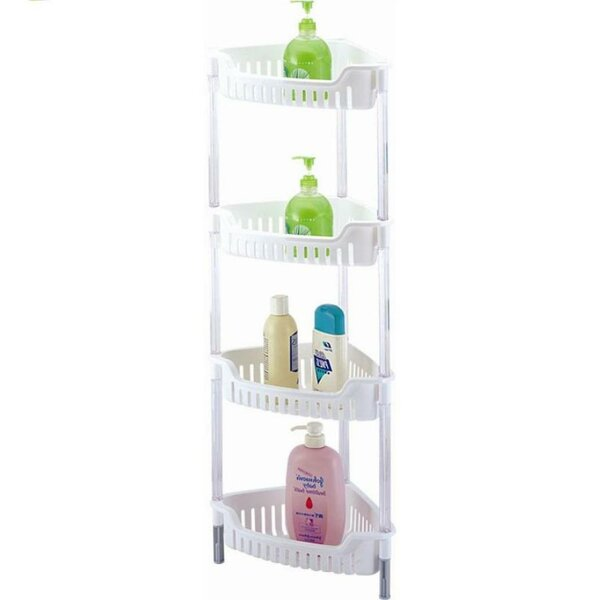 Corner 4 Tier 12.5 W x 32 H Bathroom Shelf by Above Edge Inc.