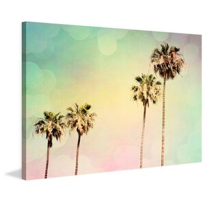 Palm Trees II Painting Print on Wrapped Canvas by Marmont Hill