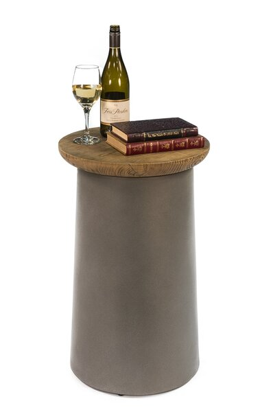 Malina Drum End Table by Sarreid Ltd