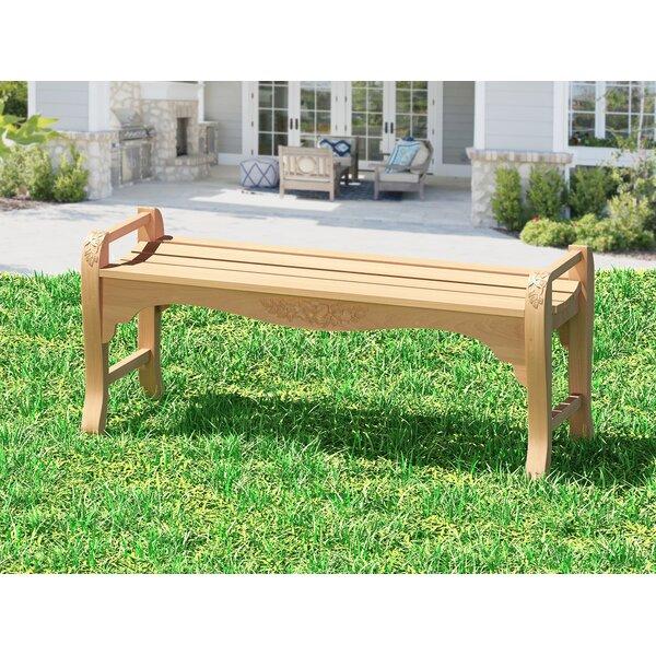 Guillory Teak Garden Bench by Highland Dunes