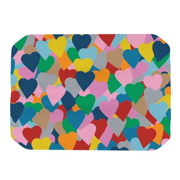 More Hearts Placemat by KESS InHouse
