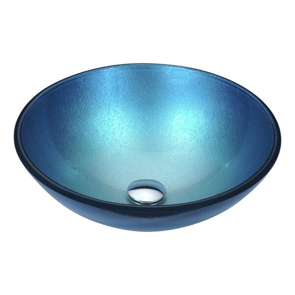 Posh Glass Circular Vessel Bathroom Sink by ANZZI