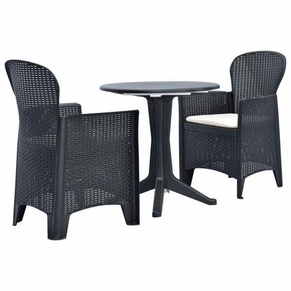 Tremblant 3 Piece Bistro Set with Cushions by Ebern Designs