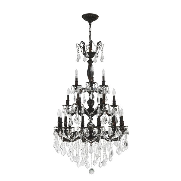 Weisser 21-Light Candle Style Tiered Chandelier By Astoria Grand