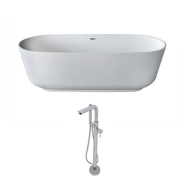 Sabbia 70.8 x 31.5 Freestanding Soaking Bathtub by ANZZI