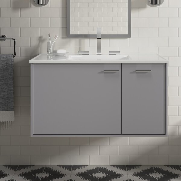 Jute™ 39 Wall-Mounted Single Bathroom Vanity Set by Kohler