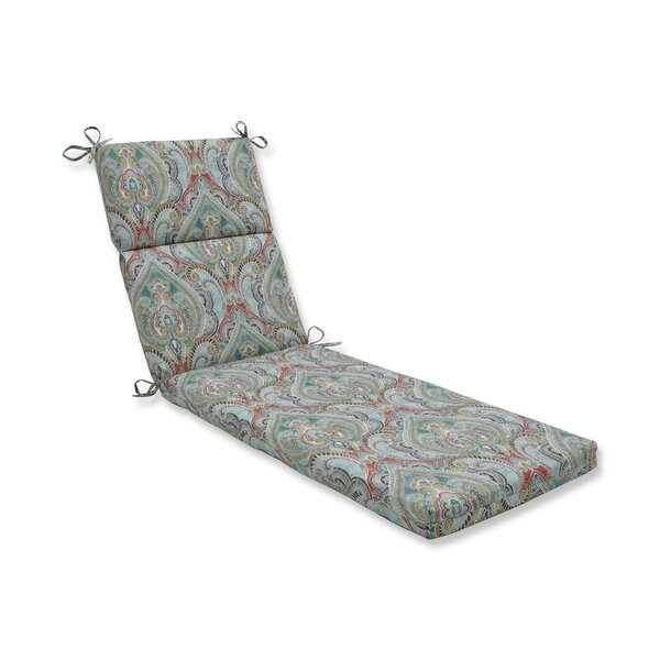 Pretty Witty Reef Indoor/Outdoor Chaise Lounge Cushion by Astoria Grand