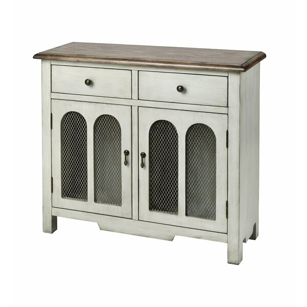 Ted 2-door 2-drawer Cabinet In Antique White By Gracie Oaks