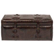 Laramie Trunk Leather Bench by Sarreid Ltd