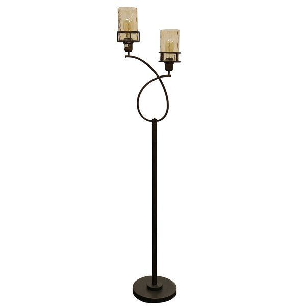 Archbald 2 Headed Metal 68.5 Torchiere Floor Lamp by Latitude Run