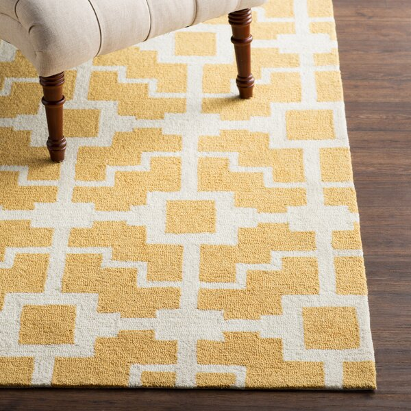 Mountain Gold/Ivory Area Rug by Mercer41