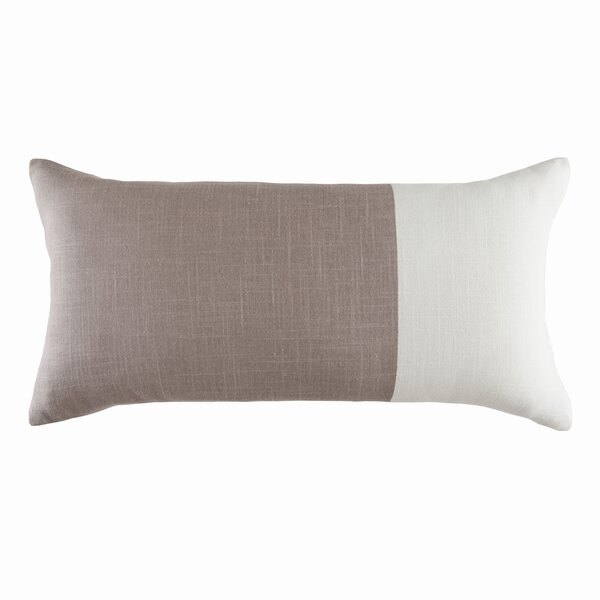 Cotton Colorblock Lumbar Pillow by DwellStudio
