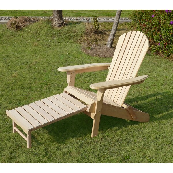 Wood Adirondack Chair with Ottoman by Merry Produc