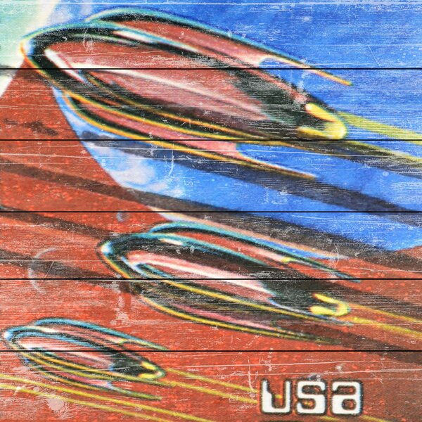 Rockets in Space Graphic Art on Wood by Marmont Hill