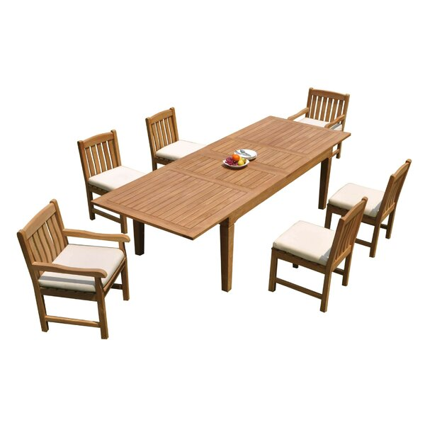 Erkson 7 Piece Teak Dining Set by Rosecliff Heights