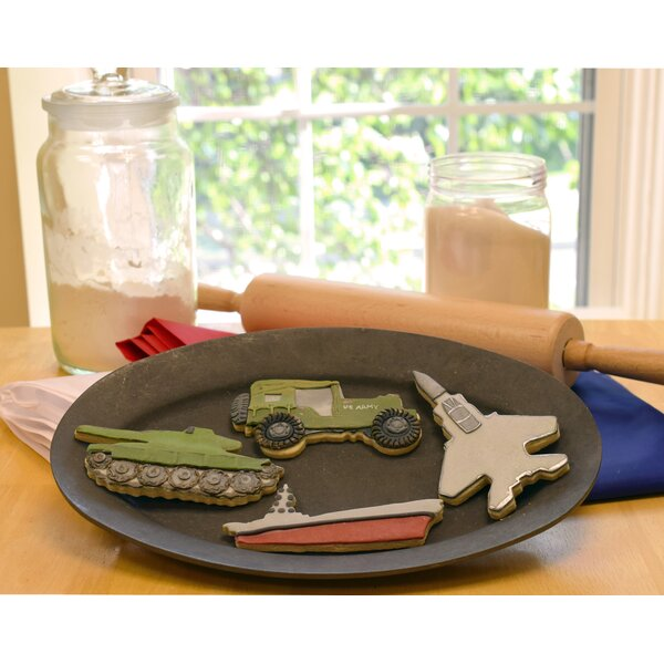 Military 4 Piece Vehicle Cookie Cutter Set by R & M International Corp.