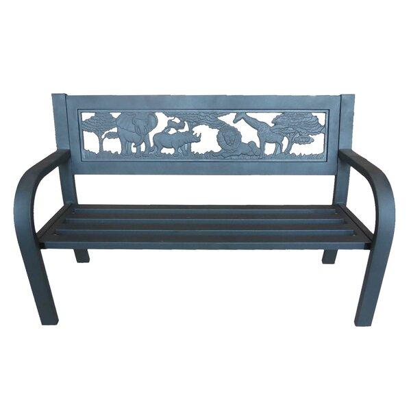 Pulver Safari Outdoor Metal Garden Bench by World Menagerie