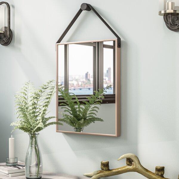 Waynoka Rectangle Champagne and Black Iron Decorative Wall Mirror by Trent Austin Design