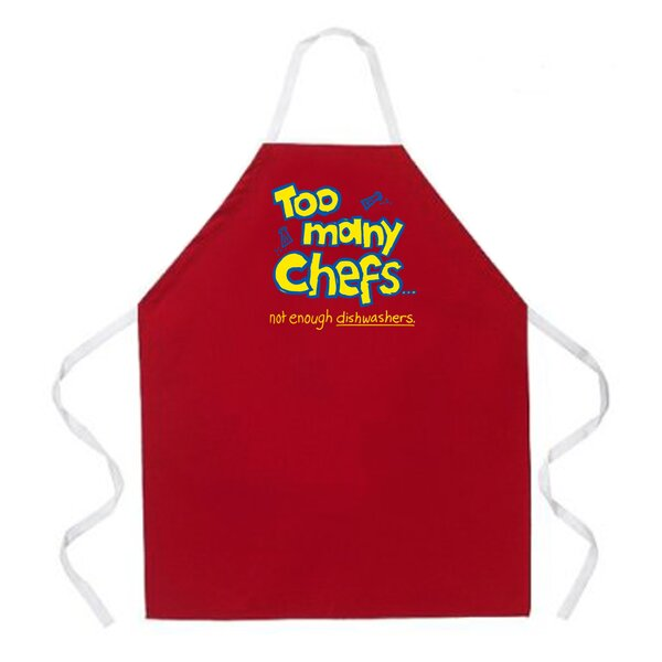 Too Many Chefs Apron in Red by Attitude Aprons by L.A. Imprints