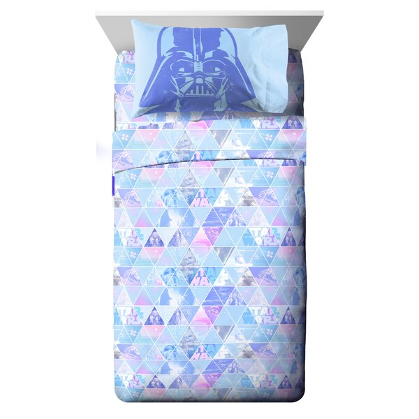 Celestial Logo Twin Polyester 3 Piece Sheet Set by Star Wars