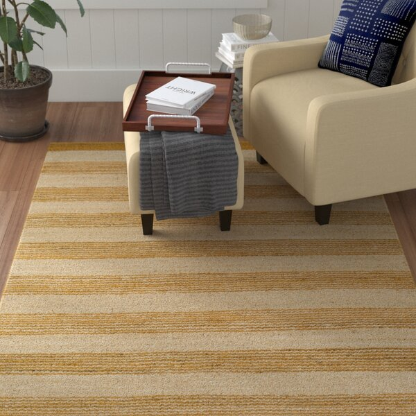 Ayling Hand-Woven Gold/Natural Area Rug by Winston Porter