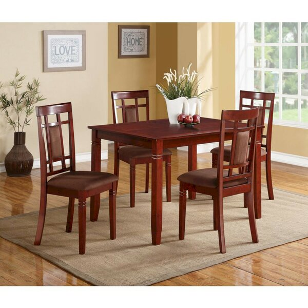 Bartsch 5 Piece Solid Wood Dining Set By Charlton Home