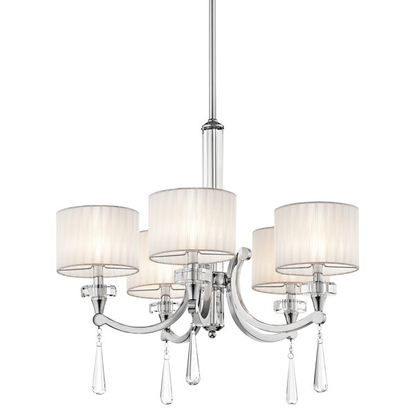 Austine 5 - Light Shaded Classic / Traditional Chandelier By Willa Arlo Interiors