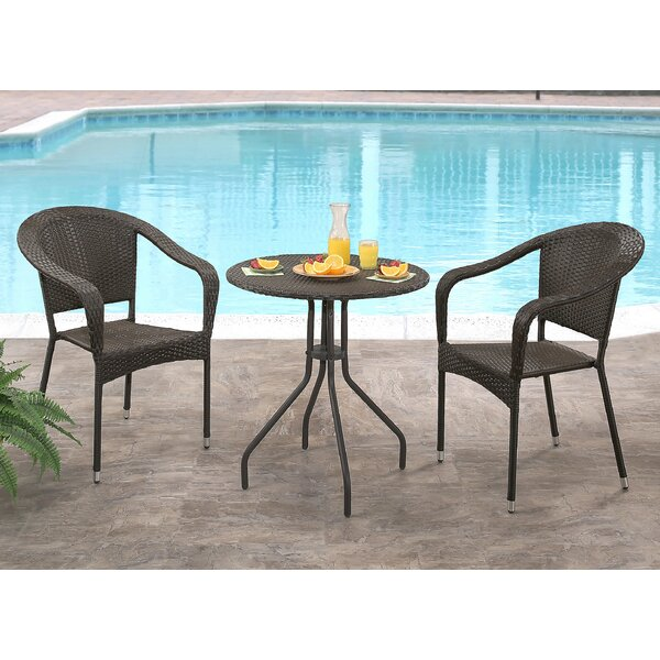 Cummingham 3 Piece Bistro Set by Alcott Hill