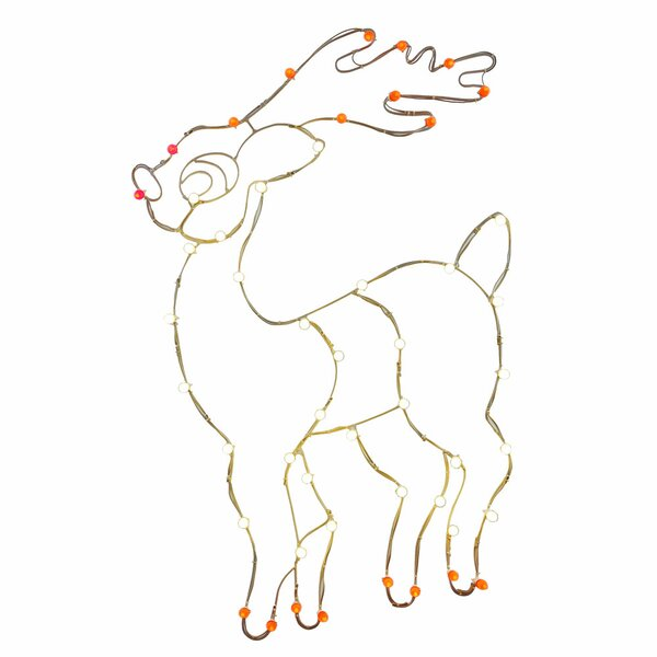 48 x 36 LEDReindeer C7 Wire Motif by Vickerman