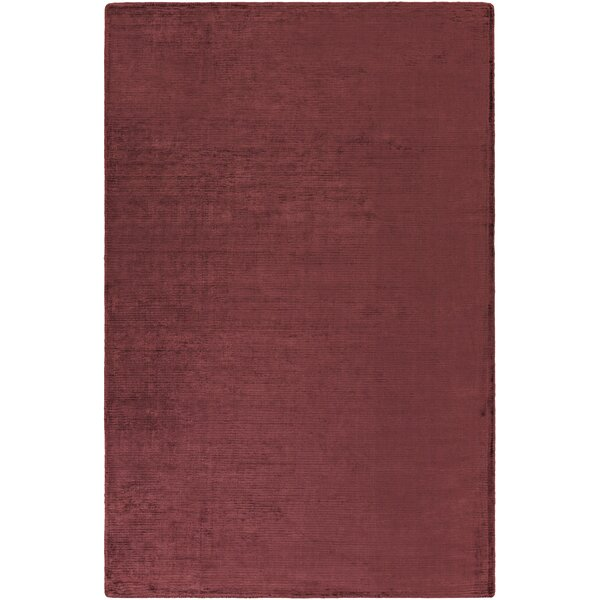 Blosser Hand-Loomed Burgundy Area Rug by Wrought Studio
