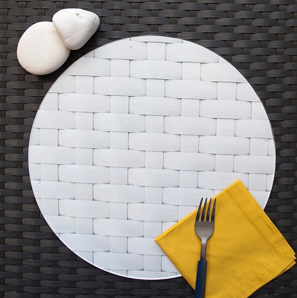 Bianco Cartone Tessere Placemat (Set of 4) by Victoria Lekach