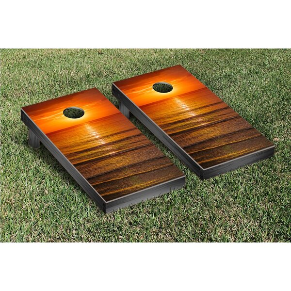 Ocean Sunset Cornhole Bag Toss Game Set by Victory Tailgate