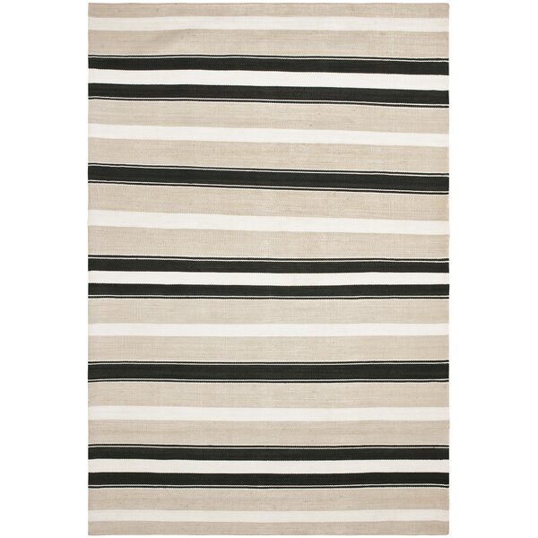 Narragansett Stripe Hand-Woven Silk Night Sand Area Rug by Lauren Ralph Lauren