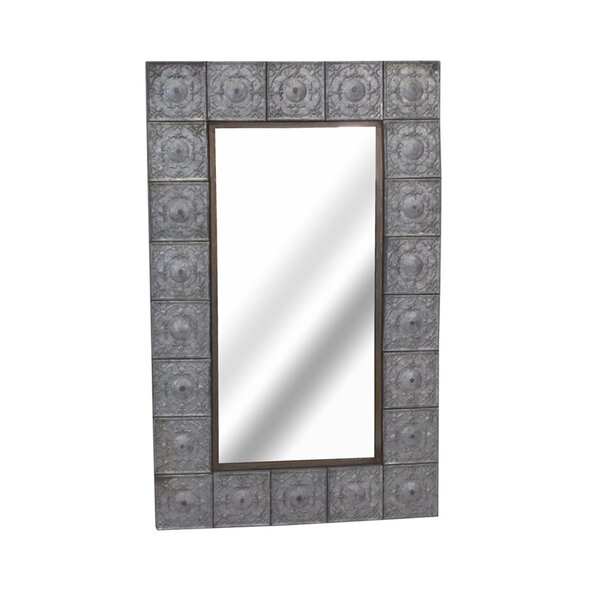 Rosamund Metal and Glass Wall Mirror by Gracie Oaks