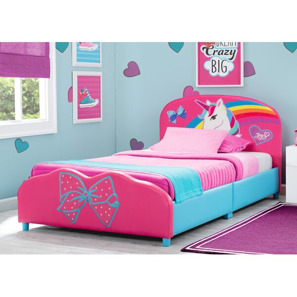 JoJo Siwa Upholstered Twin Platform Bed by Delta Children