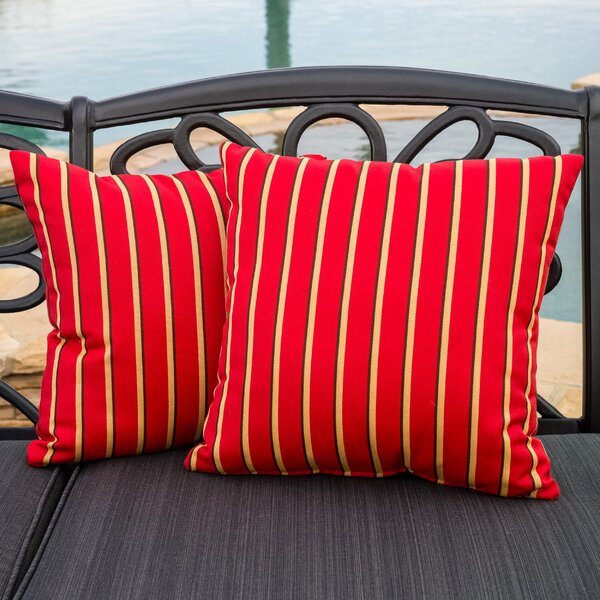 Goodloe Indoor/Outdoor Throw Pillow (Set of 2) by Darby Home Co