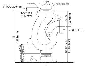 3 Pop-Up Kitchen Sink Drain by Just Manufacturing