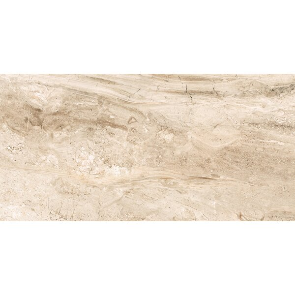 Amalfi 12 x 24 Ceramic Field Tile in Crema Vasari by Interceramic
